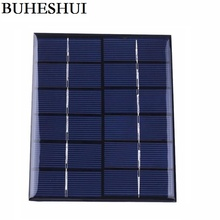 BUHESHUI 2W 6V Epoxy Plate Solar Cell Polycrystalline Solar Panel Solar Module DIY Solar Charger 136*110*3MM Free Shipping(China)
