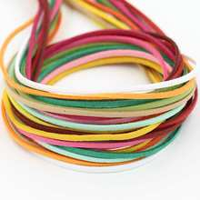 15 pcs/lot (1m/piece 2.7mm*1.6mm) Suede cord for DIY jewelry Bracelet necklace accessories White Beige Yellow Red Green