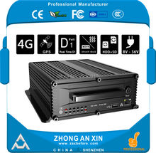 8 Channel Full HD D1 H.264 encode GPS tracking 4G LTE H.264 Vehicle Mobile DVR MDVR