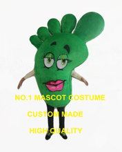 big green foot mascot costume adult size foot feet health theme advertising costumes cartoon foot fancy dress 2558(China)