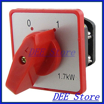 1.7KW 10A 380V 2 Positions Rotary Handle Changeover Switch<br><br>Aliexpress