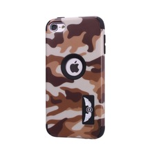 For iPod Touch 5 Touch 6 6G Case Army Camouflage Armor Hard Case Colorful 3 Layer Silicone Full Body Protective Cover Skin +Flim