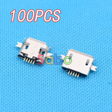 100pcs 5pin Female Micro USB Connector, SMD 2 Fixed feet, Widely used in tablet, phones and PDA (A-11)