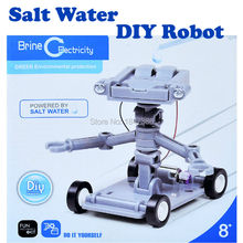 Salt Water robot kit Self assembled Blocks green environmental protection Science Model kit Educational Robot Toys for kids