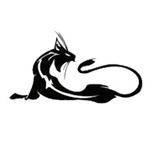 17.8*9.4CM Wild Cat  Car Sticker Vinyl Car Styling Nice Cool Motorcycle Bumper Decorative Stickers Black/Silver S1-0158