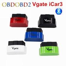 ELM327 Bluetooth Vgate iCar3 Bluetooth OBD OBD2 Diagnostic Interface Vgate iCar 3 ELM 327 Bluetooth For Android/PC OBD2 Scanner(China)