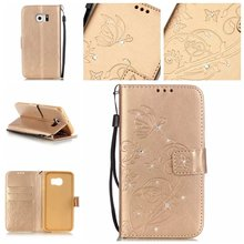 Luxury Diamond Bling PU Leather Wallet Case Cover Flip Back Case For Samsung Galaxy J1 J2 J3 J5 J7 A3 A5 S3 S4 S5 S6 S7 Edge