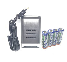 4PCS/lot  FOR SANYO 1.2V AA 2700mAh Rechargeable battery + 4 slots AA AAA battery charger CAN charge alkaline NiMH NiCd battery