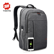 2018 Tigernu Anti-thief USB bagpack 15.6inch laptop backpack for women Men school backpack Bag for boy girls Male Travel Mochila(China)