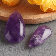 1PC New Charming Purple Aura Natural Amethyst Quartz Crystal Rock Gemstone Drip Stone Pendant Lucky Collectibles Home Decor(China)
