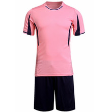 2017 new 100% polyester men soccer jerseys set top blank football team training suits breathable short badminton uniforms design