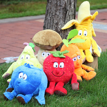 "Original New Fruits Vegetables garlic Mushroom Cherry Starwberry 9"" Soft Plush Doll Toy"