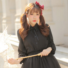 Japanese Female School Shirt Lantern Long Sleeve Sweet Lolita Chiffon Blouse for Girl by Dolly Delly(China)