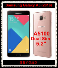 "Samsung Galaxy A5 2016 Original Unlocked 4G LTE Android Mobile Phone Dual Sim A5100 Octa Core 5.2"" 13MP RAM 2GB ROM 16GB(China)"