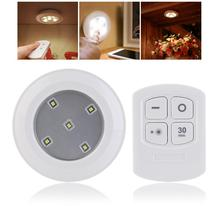 2017 Wireless Remote Control LED Puck Lights For Cabinets Closets And Any Dark Space For Hallway Pathway Light