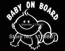 Baby On Board Decal Sticker Car Window Truck Bumper Auto Door Kayak Sign SUV Truck Van Baby Safety Seat Baby in Car(China)