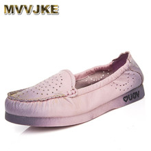 Buy MVVJKE Women Shoe Genuine Leather Handmade Flat Comfortable Casual Shoe Lady Soft Solid Women Loafers Flat Plus Size for $71.38 in AliExpress store