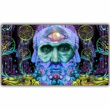 Mastodon-Band Heavy Metal Art Abstract Trippy Psychedelic Image for Wall Decoration Silk Fabric Print Posters YL295(China)