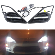 OEM Fit 6-LED High Power LED Daytime Running Lights DRL Kit For 2013 2014 2015 2016 Scion FR-S FRS Directly bolt-on replacement
