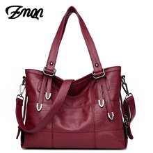ZMQN Luxury Handbags Women Bag Designer 2017 Famous Brand Women Leather Tote Hand Crossbody Bag High Quality Stitching Sac Cheap(China)