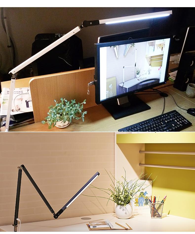 Artpad Energy Saving Modern LED Desk Lamp Dimmer Eye Care Swing Long Arm Business Office Study Desktop Light for Table Luminaire 1