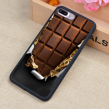 Opened Half Chocolate Style Soft Rubber Back Case Cover For iPhone 6 6S Plus 7 7 Plus 5 5S 5C SE 4 4S Mobile phone bag