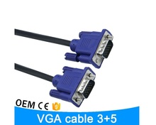 JINCHI 1080P VGA Cable VGA to VGA Cable Male to Male Braided Shielding High Premium HDTV Extension VGA Cabo 1.5m 3m