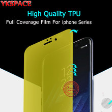 YKSPACE Clear HD Soft TPU Front Back Full Cover Screen Protector Film For iPhone 6 6S 7 8 Plus X Ultra thin 0.1mm Scratch Proof