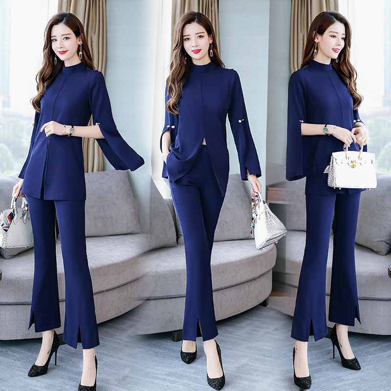 Trendy Temperament Celebrity Party Women's Suit Elegant Fashion Women Sets Clothes Generous Classic Ensemble Femme Deux Pieces