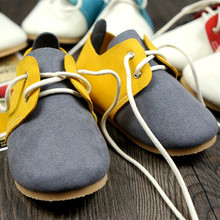 New Mixed Colors Genuine Leather Baby Moccasins soft First Walkers Chaussure Baby Shoes Bebe newborn shoes(China)