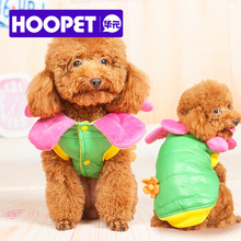 Funny Flower Fairy with a Small Corsage Double Turned Pet Dog Clothes Fall and Winter Clothes(China)