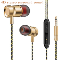 Metal bass Earphone FG003 DJ music Headset with microphone for iPhone xiaomi mi 5 6 huawei samsung xiomi oppo sony lg phone mp3(China)