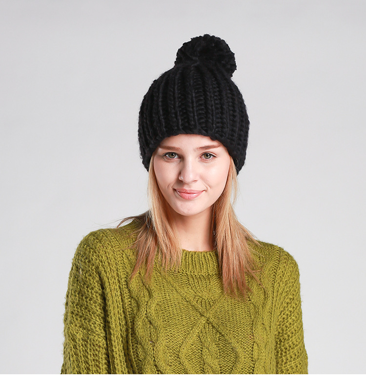 SEMAZEN hand-knit hats women thick and thick winter hooded wool knit hat multicolorОдежда и ак�е��уары<br><br><br>Aliexpress