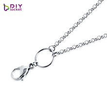 diylocket 26/30 inch Silver 316 Stainless steel Chain Necklace Rolo chain for floating Pendant necklace High quality LSCH03-1