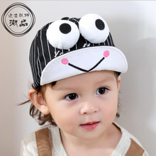 New Striped Kids Hat Funny Big Eyes Baby Boy Baseball Cap Summer Girl Visor Hats Candy Color Newborn Caps Accessories