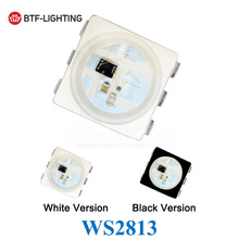 WS2813 (6pins) Dual-signal 5050 SMD Black/White version WS2813 Individually Addressable Digital RGB LED Chip 5V 10~1000pcs(China)