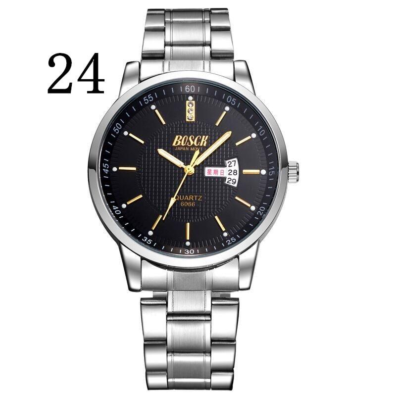 BOSCK 6066, leisure mens watch, super brand watches, double display calendar quartz watch, business waterproof fashion watches<br>
