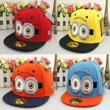 2017 New Baseball Caps Small yellow man Big Eyes Children Hip Hop Baseball Cap Summer kids Sun Hat Boys Girls snapback Caps