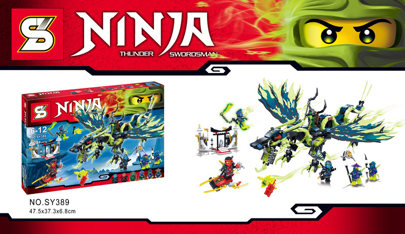 SY389 Attack Of The Morro Dragon Building Blocks Evil Green Ninja Chain Master Wrayth Figures Toys<br><br>Aliexpress