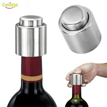 Delidge 1 PC Bottle Stopper Stainless Steel Red Wine Stopper Vacuum Sealed Red Wine Bottle Spout Liquor Flow Stopper Pour Cap(China)
