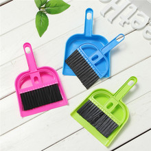 Mini Dustpan And Brush Set Soft Plastic Desk Hand Sweeper Keyboard Closet Brooms Brushes Durable Office Desktop Cleaning Tools(China)