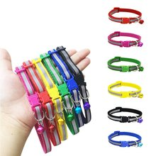 New 1.0cm/1.5cm Width Small Dogs Cat Collar Puppy Nylon Reflective Pet Dog Collar Necklace with Bell For Dog Supplies
