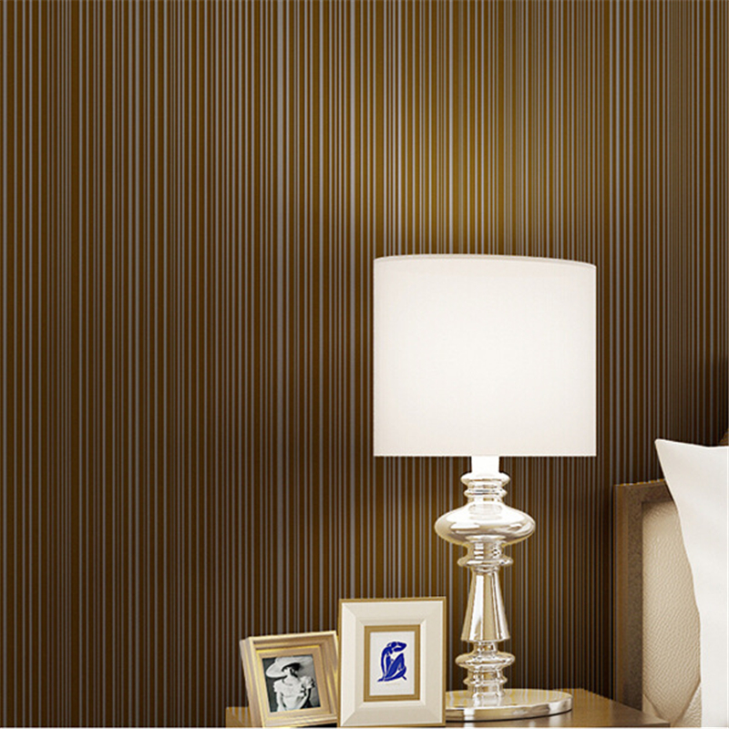 beibehang Modern simple pure color non - woven wallpaper three - dimensional vertical striped living room bedroom wallpaper<br>