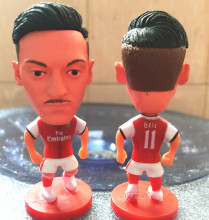 Soccerwe 2016-17 Season 2.55 Inches Height Football Dolls Premier League ARS Player 11 Ozil Doll for Fans Collections Red