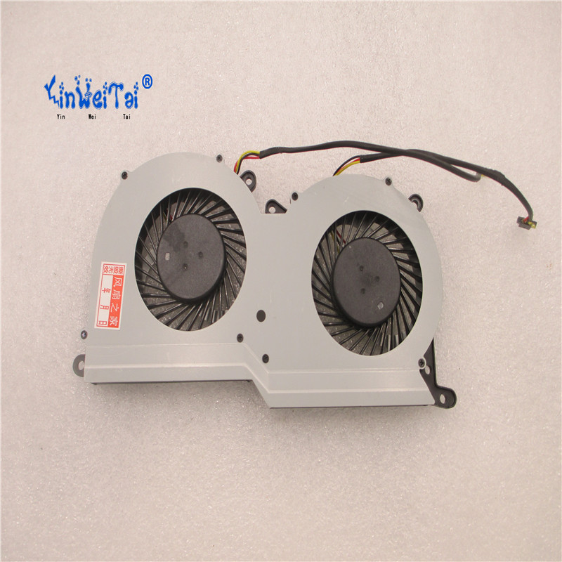 Original CPU AND GPU Fan For Clevo P651SE P651SG P650SA P650SE GPU COOLING FAN FCN FG80 FG7Y 6-31-P502-201 DFS501105FR0T FG5B<br>