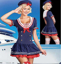 free pp real picture!!!! ZT8507 sailer costume Navy Fancy Costume,Sailer costume(China)