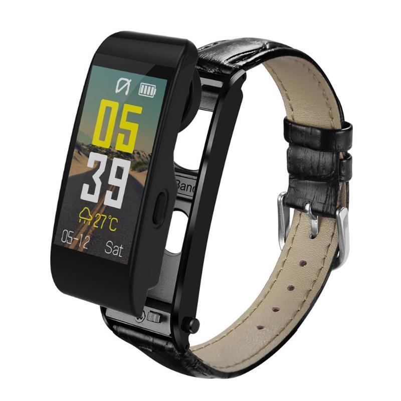 ALLOYSEED Bluetooth Smart Bracelet Watch Handsfree Call Music Player Sport Wristband Headset Fitness Tracker Heart Rate Monitor 14