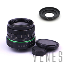 Green circleLens 35mm Upgraded Style Manual Iris Lens CMount Suit For Fuji, Canon, Nikon, Sony, Oly.mpus