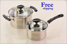 Free shipping Top Quality 18/10 4PC Of Stainless Steel Cookware Set with Capsule Induction Base