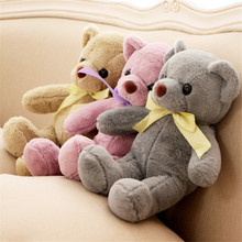 New 35cm Soft Top Quality Cute Bowknot Soft Teddy Bear Cartoon Bear Plush Dolls Bears Wedding Use Promotion Activities Gifts